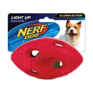 Мяч для игры в регби Нерф Дог, светящийся