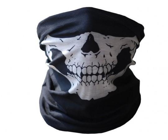 Бандана для лица Череп (черная)