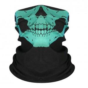 Шарф-бандана череп, зеленый цвет