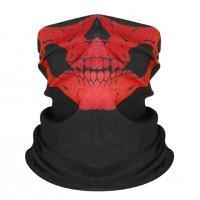 Шарф-бандана череп, красный цвет