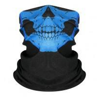 Шарф-бандана череп, синий цвет