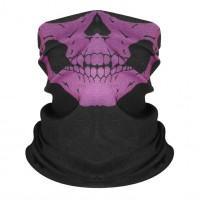 Шарф-бандана череп, фиолетовый цвет