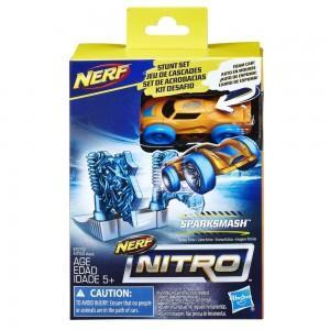 Препятствия для Нерф Нитро Sparksmash (Ледяные ворота+оранжевая машинка)